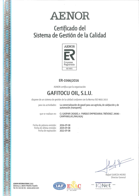 Certificado calidad 2016-2022